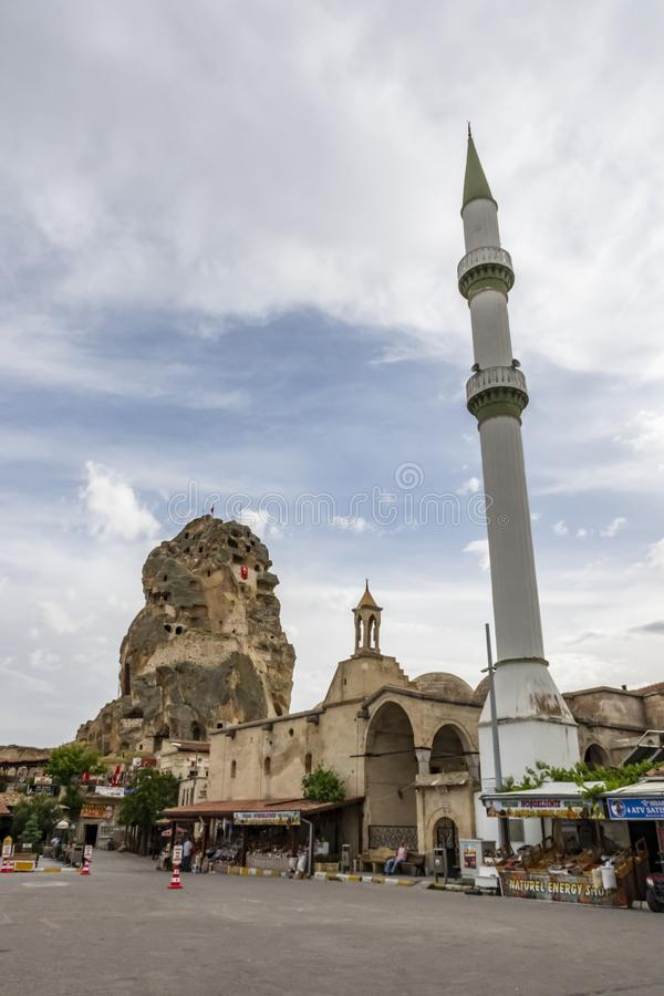 Ortahisar is a small and touristic town in urgup district of Nevsehir Province.Panoramic vie stock image