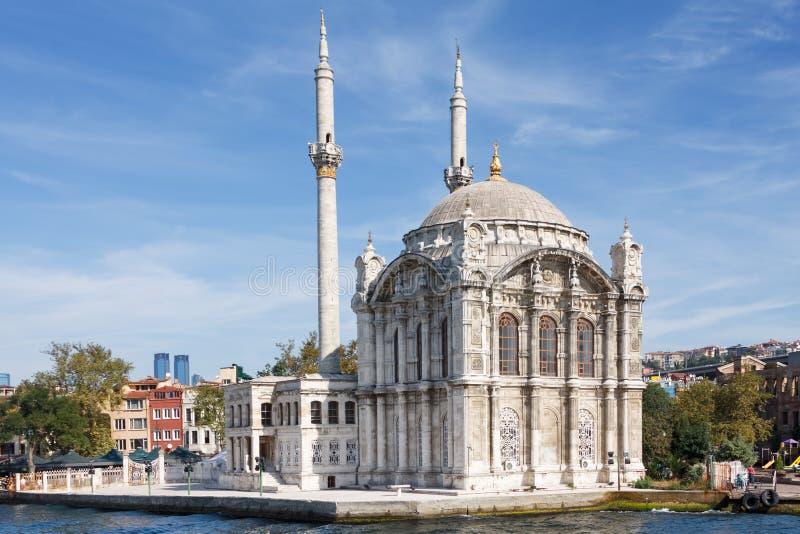Ortak�y清真寺 免版税图库摄影