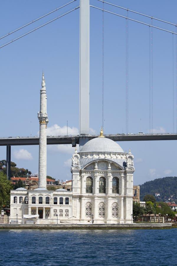 Ortakoy meczet jeden malowniczy położenia wszystko Istanbuł meczety fotografia stock