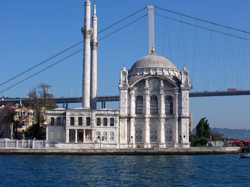 Ortakoy Moschee lizenzfreie stockfotografie