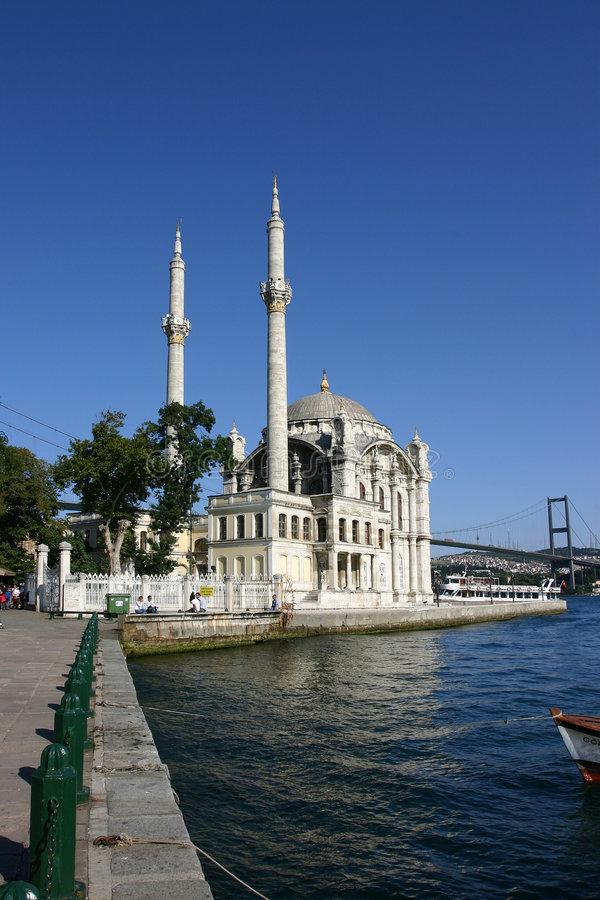 Download Ortakoy Mosque stock image. Image of summer, historical - 108105