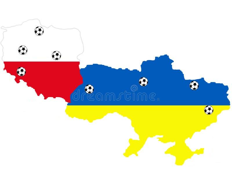 Orte von UEFA 2012 stockfotos