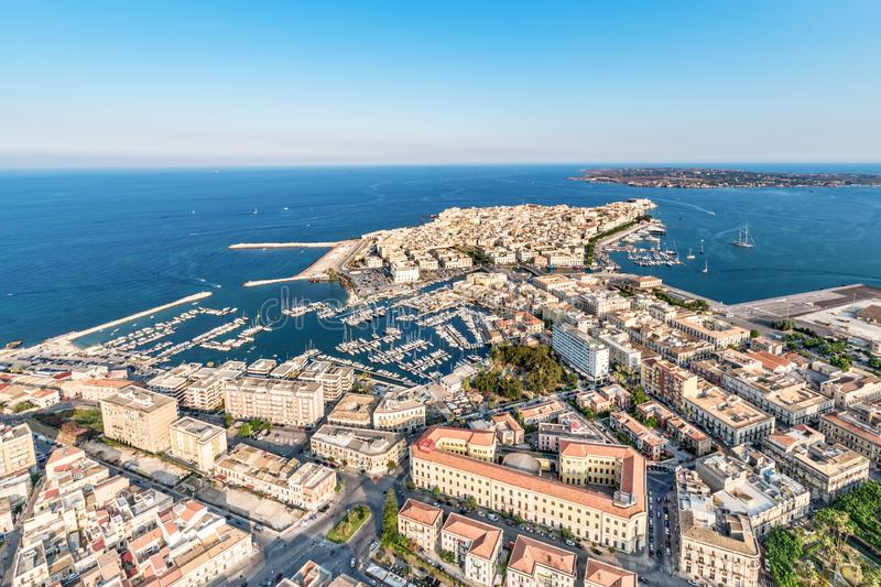 Ortgia island in Syracuse Sicily royalty free stock images