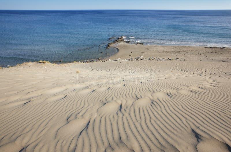 Orthi Amos plaża w Crete greeley obrazy royalty free