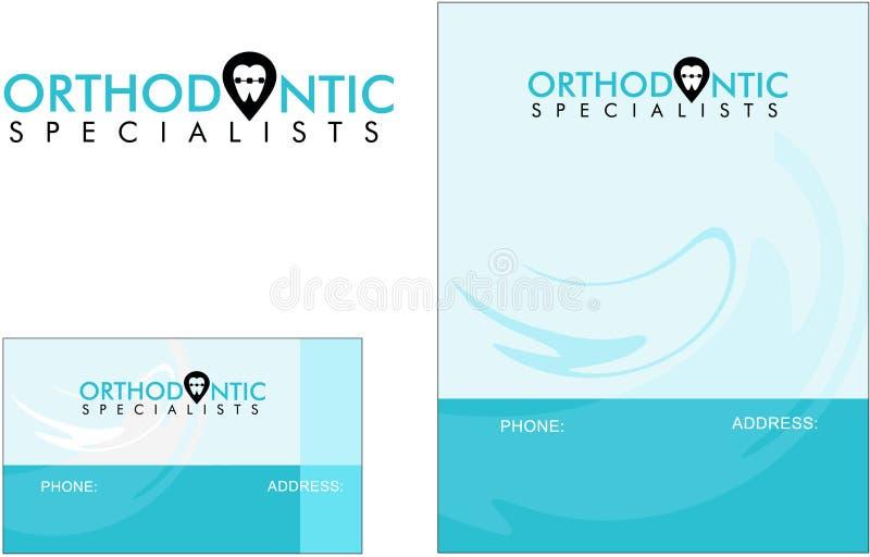 Orthodontic dentist doctor medicine modern logo business card download orthodontic dentist doctor medicine modern logo business card stock vector illustration of reheart Gallery