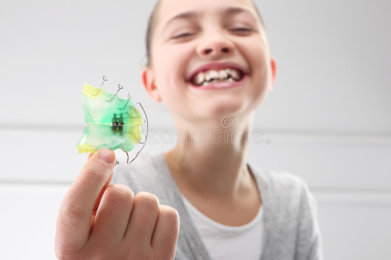 Orthodontist παιδιών στοκ φωτογραφία με δικαίωμα ελεύθερης χρήσης