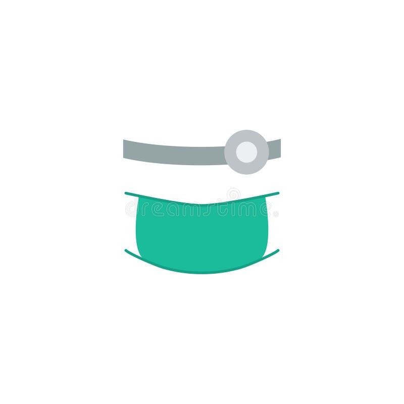 Orthodontist plano Element del icono Ejemplo del vector de la estomatología plana del icono aislado en fondo limpio puede ser uti libre illustration