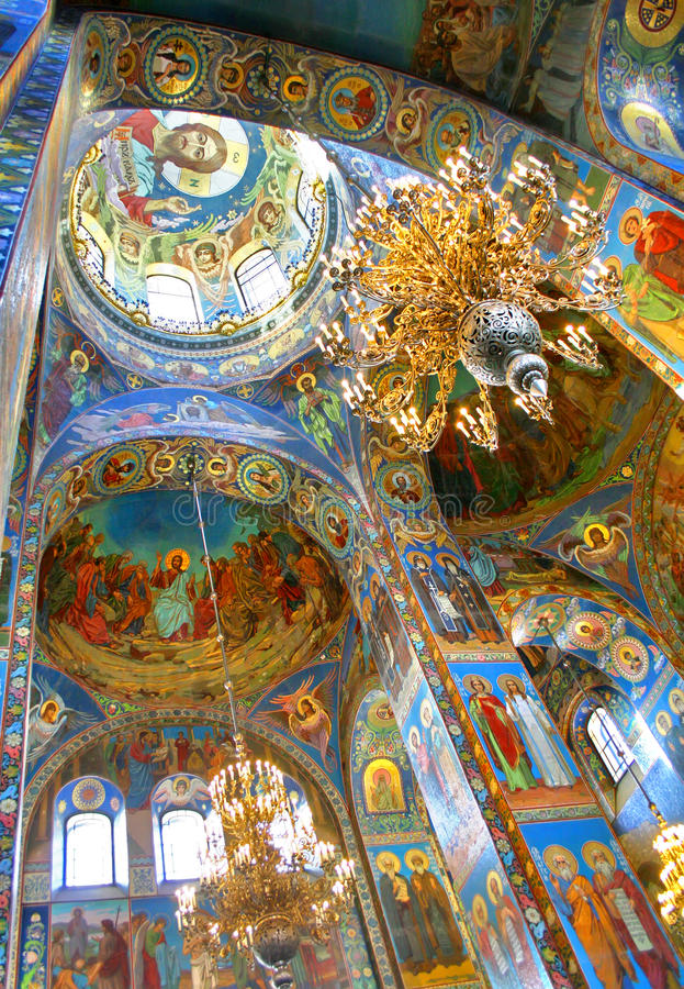 Download Orthodox cathedral stock illustration. Illustration of paintings - 22805736