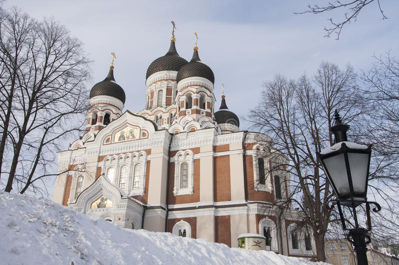 Orthodox Cathedral Tallinn royalty free stock images