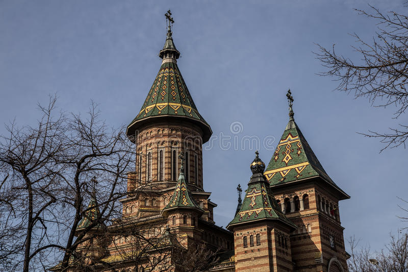 Orthodox Cathedral in Timisoara, Romania stock photography