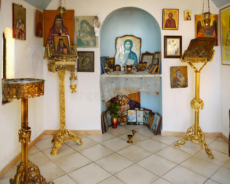 Orthodox chapel stock photo