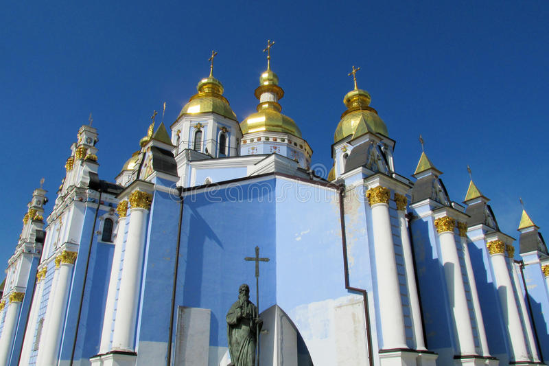 Orthodox christian church with golden dome stock images