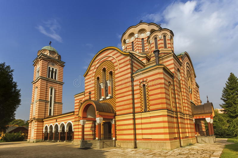 Orthodox Christian Church of Holy Trinity, Banja Luka, Bosnia an. Orthodox Christian Church of Holy Trinity, Banja Luka by day, Bosnia and Herzegovina royalty free stock photography