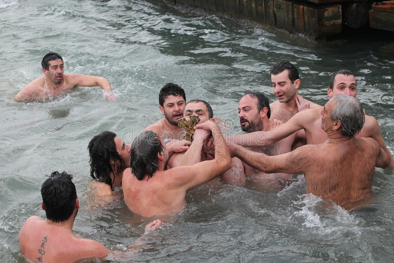 Download Orthodox Christians Celebrate The Epiphany Editorial Stock Image - Image: 28498119
