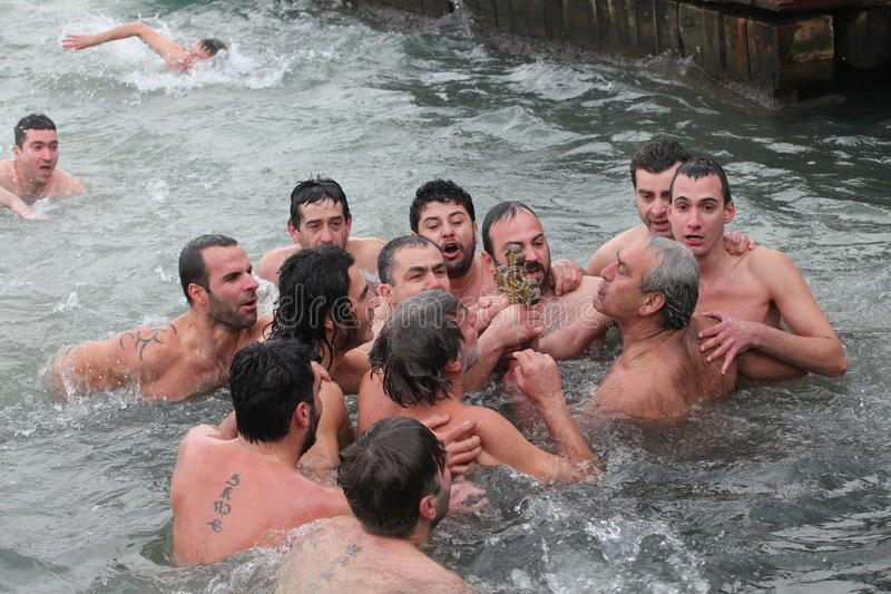 Orthodox Christians Celebrate The Epiphany Editorial Stock Photo