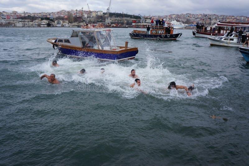 Download Orthodox Christians Celebrate The Epiphany Editorial Photo - Image of turkish, turkey: 28498381
