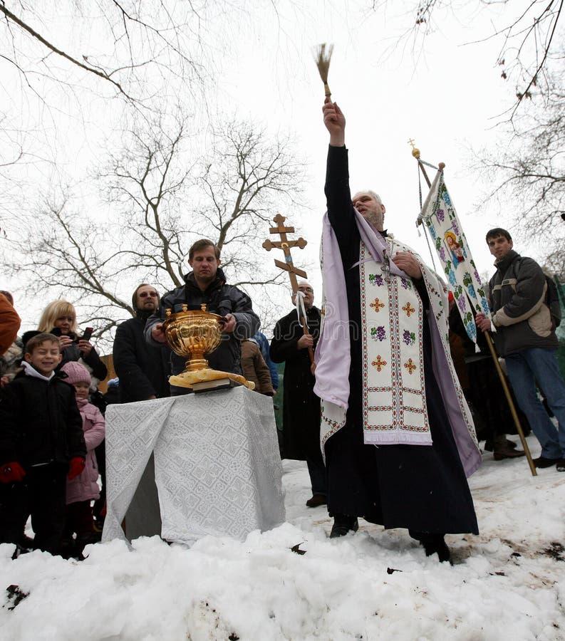Orthodox Christians Celebrate Epithany Editorial Photography