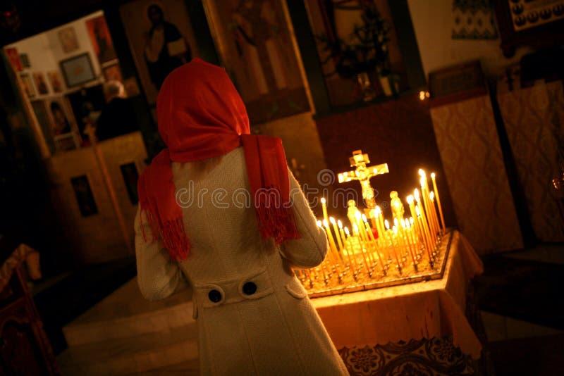 Orthodox christmas mass stock photography