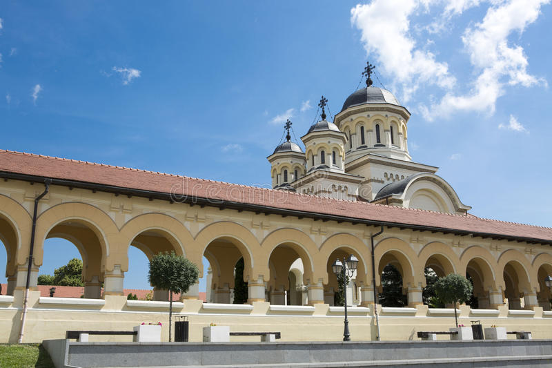 Orthodox church , Alba iulia, Transylvania. Historic center of Alba Iulia royalty free stock images