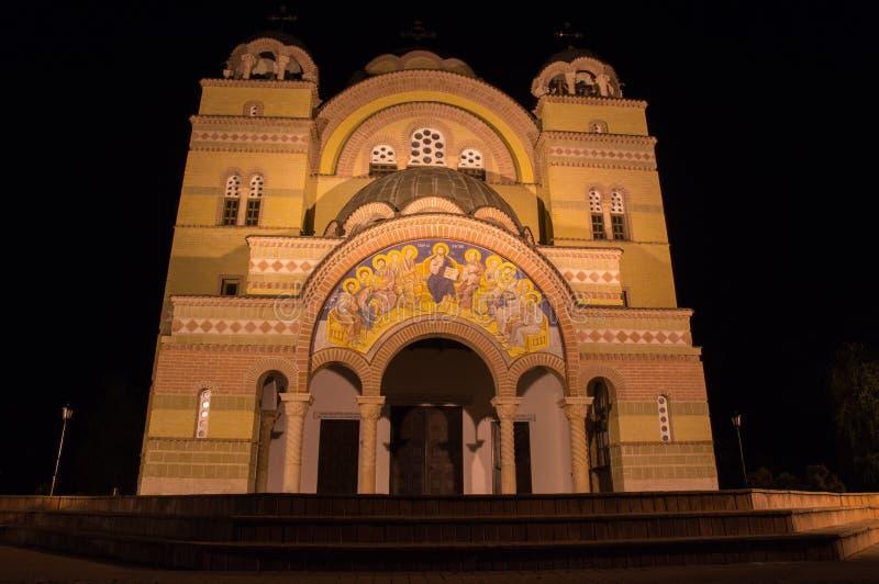 Orthodox Church Apatin. At Night royalty free stock photo