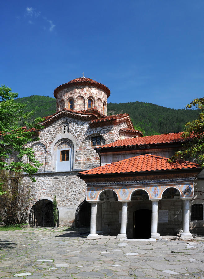 Orthodox Church of Bachkovo Monastery. Orthodox Church of medieval Bachkovo monastery near Plovdiv in Bulgaria stock photos