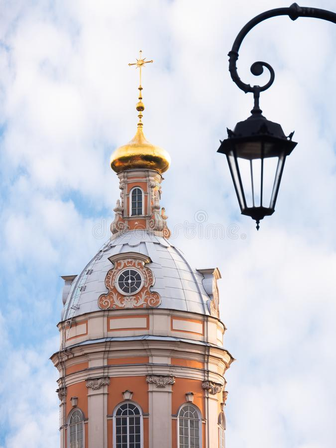 Orthodox church with blue sky royalty free stock photography