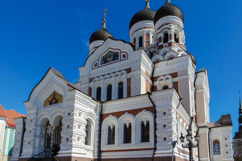 Orthodox Church in the center of Tallinn stock photography