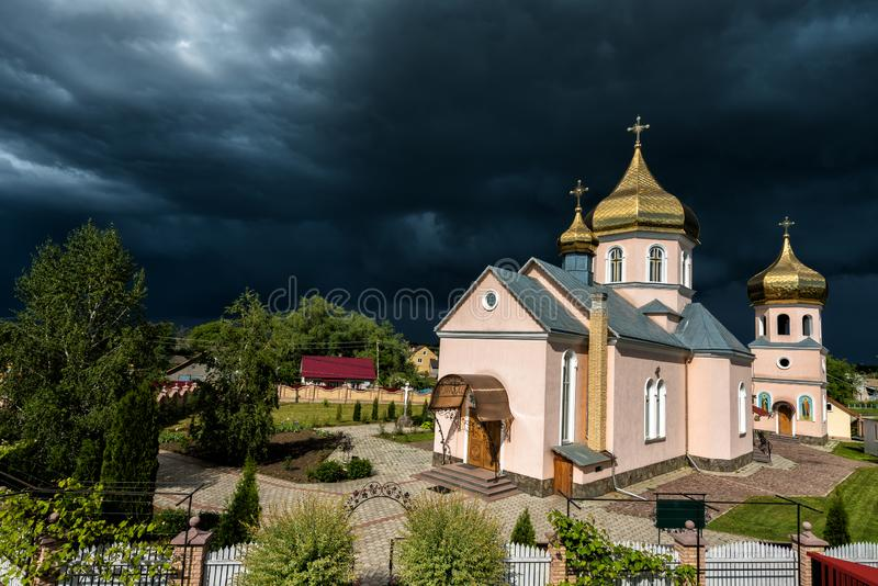 Orthodox Church. Concept - opposition of opposing forces. Orthodox Church. Concept - opposition of opposing forces royalty free stock photography