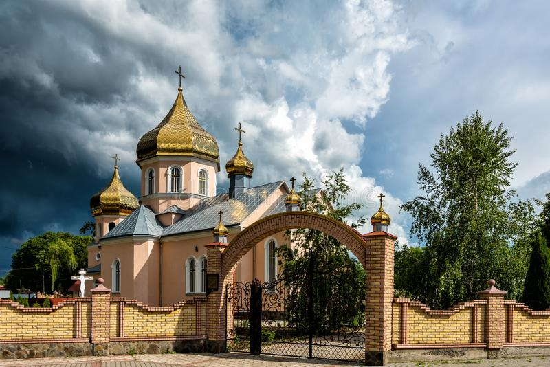 Orthodox Church. Concept - opposition of opposing forces. Orthodox Church. Concept - opposition of opposing forces royalty free stock image