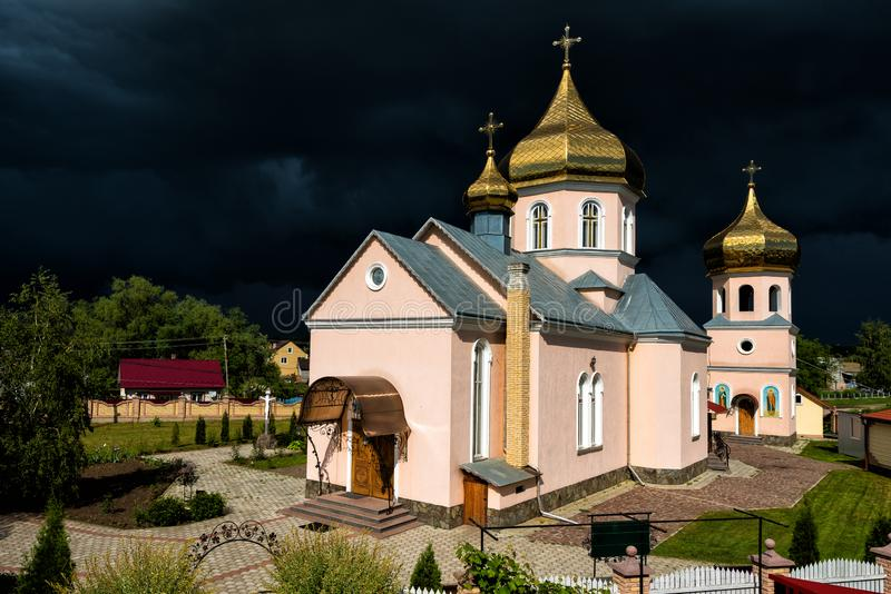 Orthodox Church. Concept - opposition of opposing forces. Orthodox Church. Concept - opposition of opposing forces royalty free stock photo