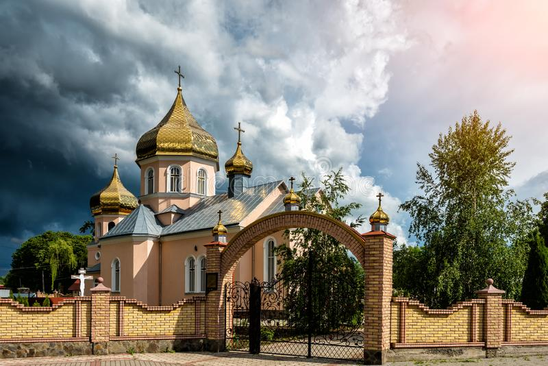 Orthodox Church. Concept - opposition of opposing forces. Orthodox Church. Concept - opposition of opposing forces stock photography