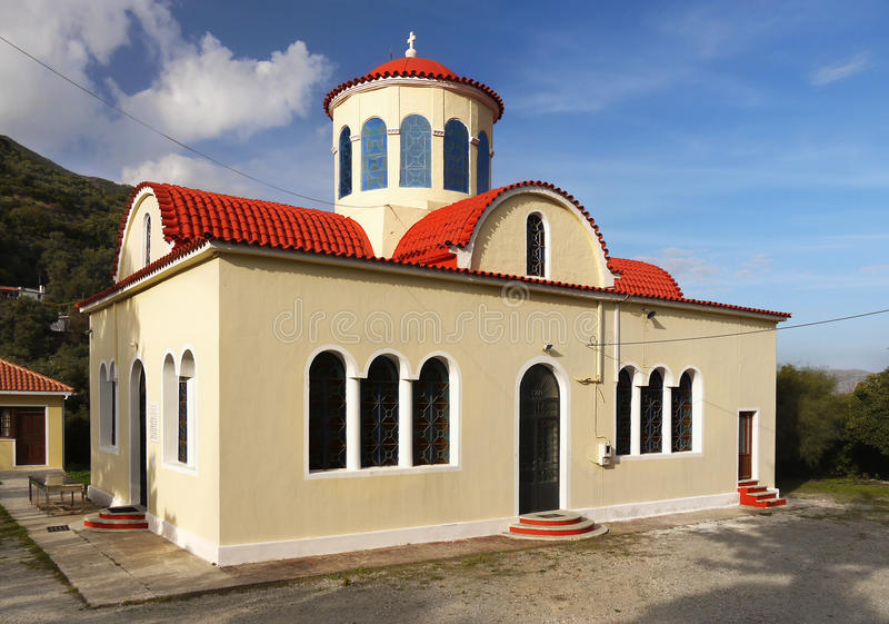 Orthodox Church Crete Greece royalty free stock photo