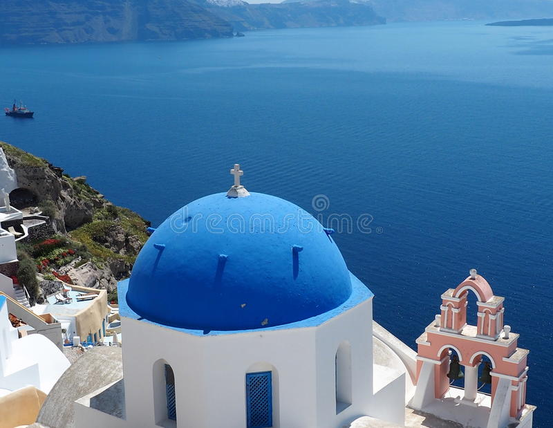 Orthodox Church In Fira, Santorini, Greece royalty free stock image