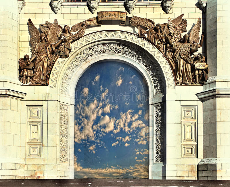 Orthodox Church gates of heaven royalty free stock images
