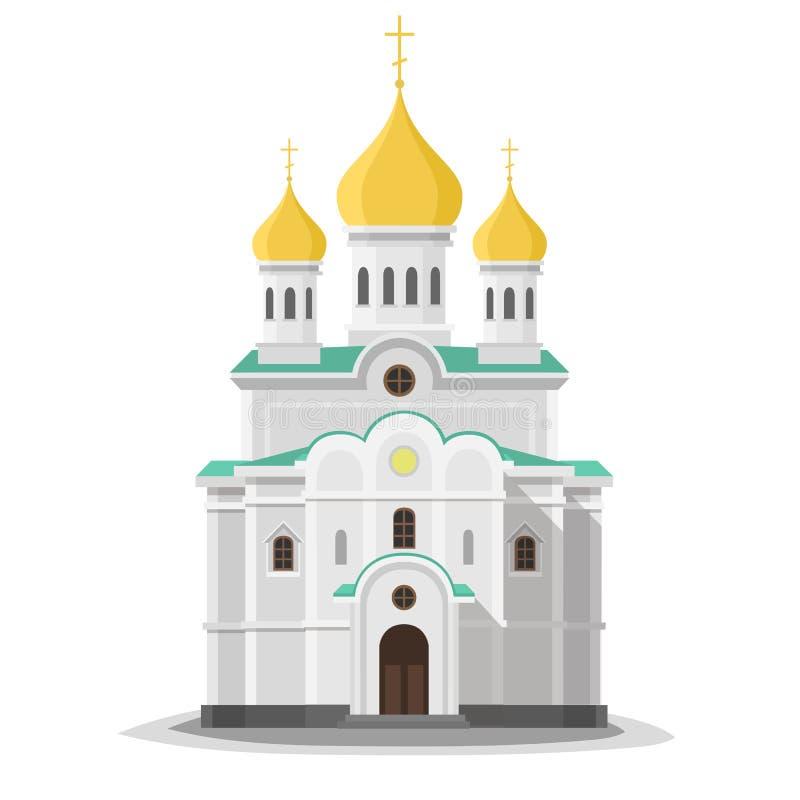 Orthodox church isolated. stock image