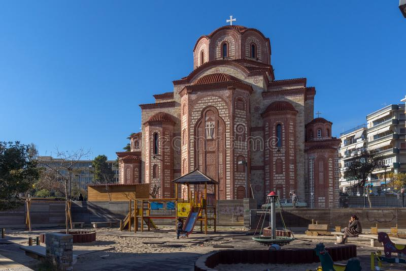 Orthodox church in old town of Xanthi, East Macedonia and Thrace, Greece. XANTHI, GREECE - DECEMBER 28, 2015: Orthodox church in old town of Xanthi, East stock images