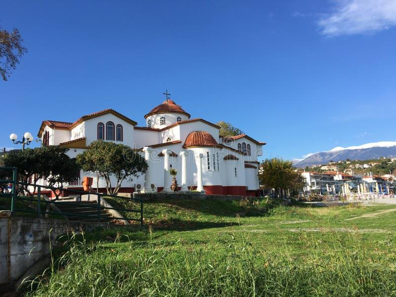 Orthodox Church. In Platamona Greece stock photography