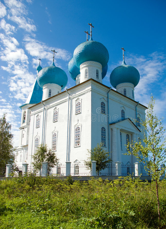 Orthodox church the Russian.Arkhangelsk stock image