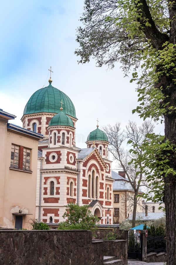 Orthodox Church of St. George Great in Lviv, Ukraine stock image