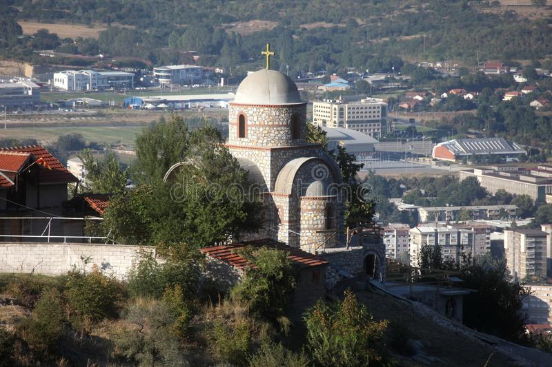 Orthodox church, Skopje, Macedonia. Orthodox church on the hill above Skopje, Macedonia stock images