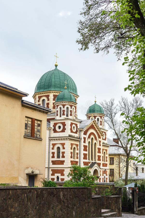 Orthodox Church of St. George Great in Lviv, Ukraine royalty free stock image