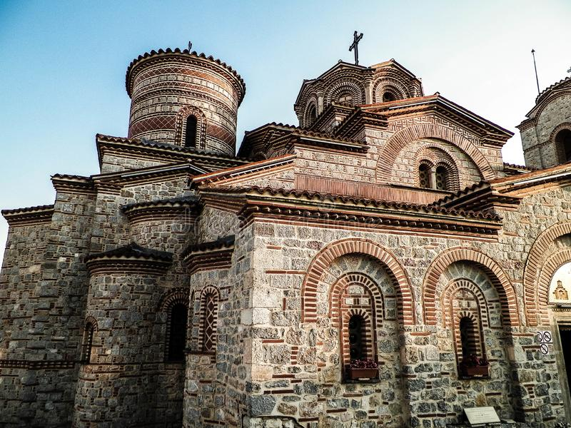 Orthodox church of st. Panteleimon in Ochrid, Macedonia. Orthodox church of st. Panteleimon. Architecture and religion concept. Ochrid City, Macedonia royalty free stock photos
