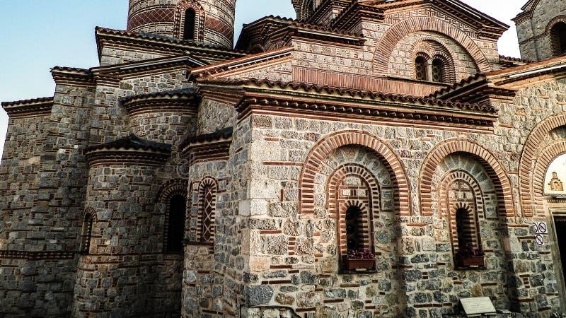 Orthodox church of st. Panteleimon in Ochrid, Macedonia. Orthodox church of st. Panteleimon. Architecture and religion concept. Ochrid City, Macedonia stock photo