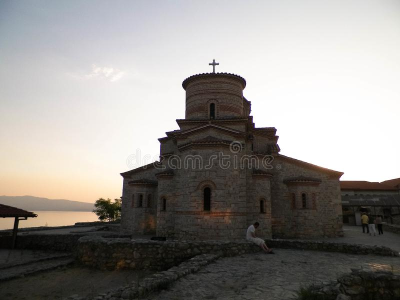 Orthodox church of st. Panteleimon in Ochrid, Macedonia. Orthodox church of st. Panteleimon. Architecture and religion concept. Ochrid City, Macedonia stock images