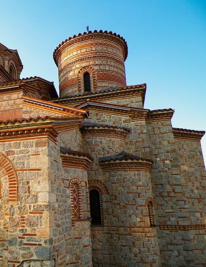 Orthodox church of st. Panteleimon in Ochrid, Macedonia. Orthodox church of st. Panteleimon. Architecture and religion concept. Ochrid City, Macedonia stock photography