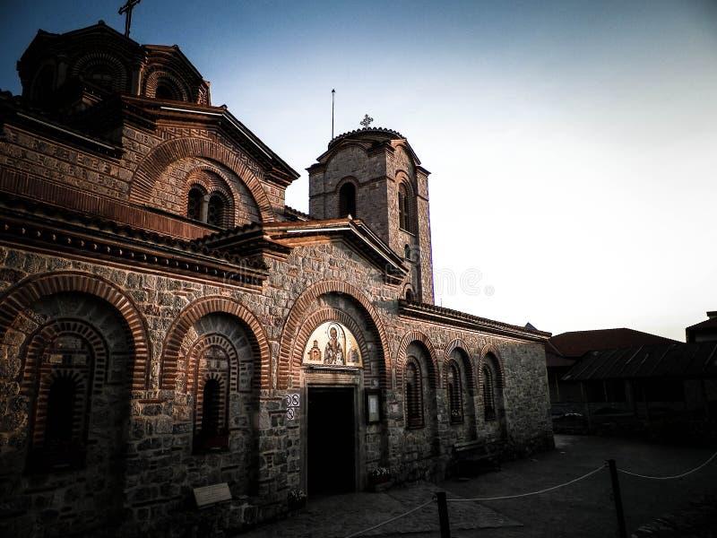 Orthodox church of st. Panteleimon in Ohrid, Macedonia. Orthodox church of st. Panteleimon. Architecture and religion concept. Ohrid City, Macedonia stock photos