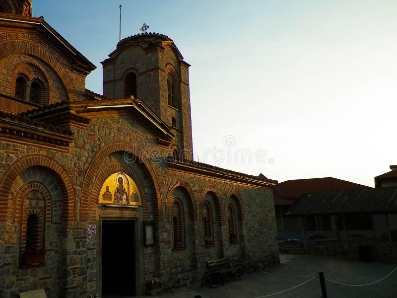 Orthodox church of st. Panteleimon in Ochrid, Macedonia. Orthodox church of st. Panteleimon. Architecture and religion concept. Ochrid City, Macedonia royalty free stock photography