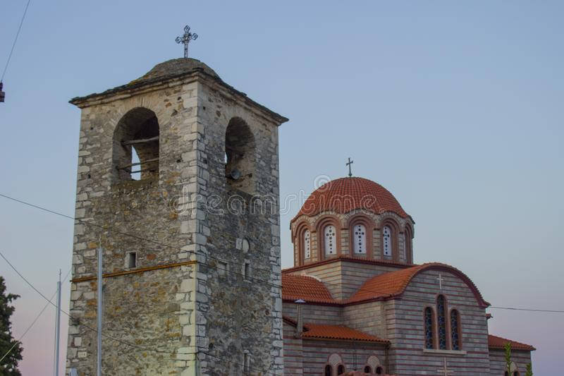 Orthodox church in Stavros, Greece royalty free stock photo