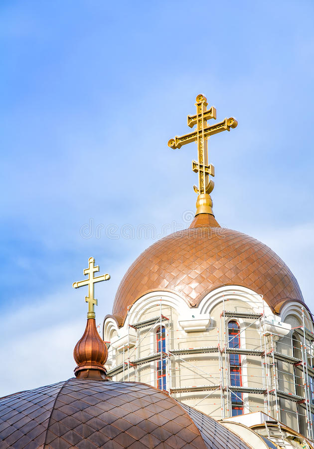 Download Orthodox church stock photo. Image of scaffolding, religious - 31139252