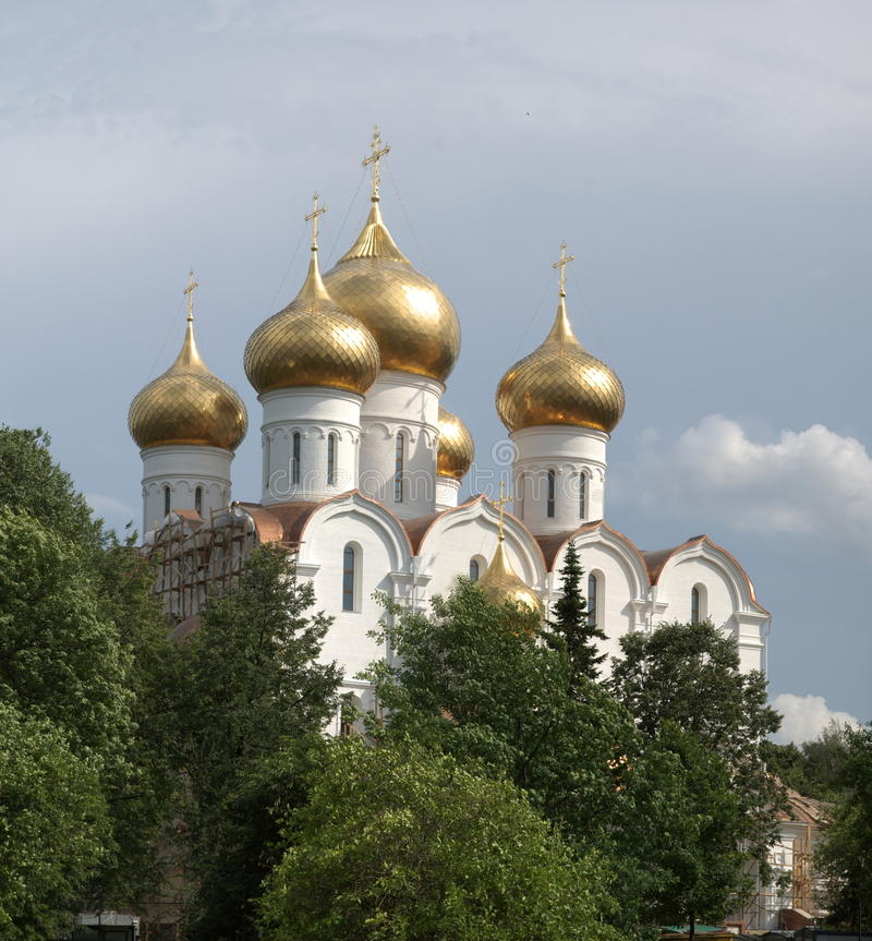 Free Orthodox Church With Gold Domes Stock Photography - 14895362